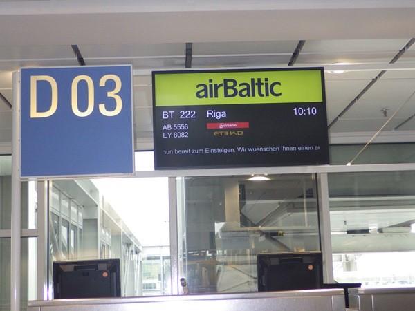 Abflug Riga